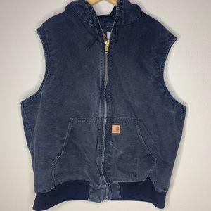 Carhartt Black Heavy Cotton Zip Up Jacket 3X
